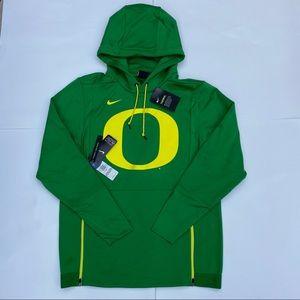 NEW Nike Oregon ducks therma hoodie green yellow